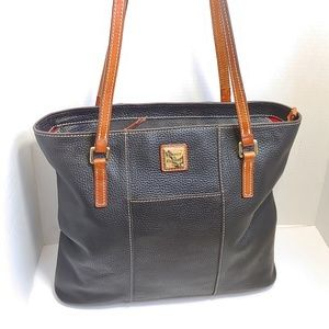 Dooney & Burke pebbled leather Lexington tote bag